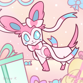 ribbon puppy returns by SteveKdA