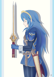 Lucina the Lord by TrainYukitoBR