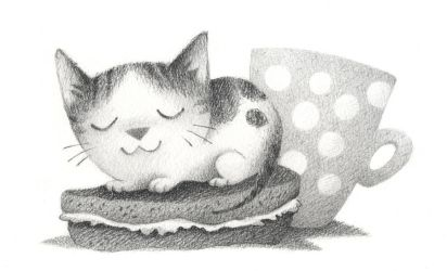 There's a Cat on my sandwich by porcelanita