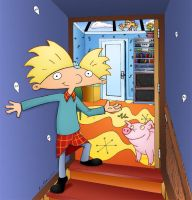 Hey Arnold - Arnold's room by unluckystunt