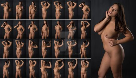 Stock: Julia Nude Portrait Poses - 28 Images by stockphotosource