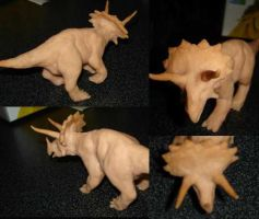 Sculpey Triceratops by gsilverfish