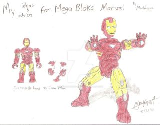 My ideas for Marvel Mega Bloks - Iron Man by TheMVAproductions