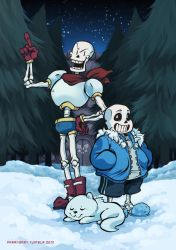 Fan Art - Sans and Papyrus by ParaParano