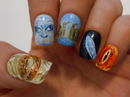 LOTR nails by henzy89