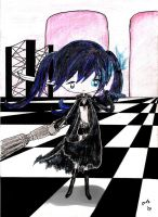 .:black rock shooter:. by gold-angel-ia
