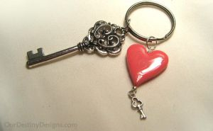 Princess of Heart Key Chain by OurDestinyDesigns