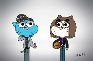 Amazing World Of Gumball: Just a few rounds by SirWolfinite