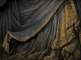 Backdrop Vintage Theater Stage Curtain - Black by EveyD