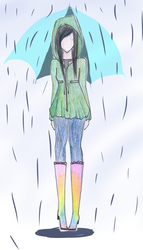 Rainy Day Fashion by CandyApplePie
