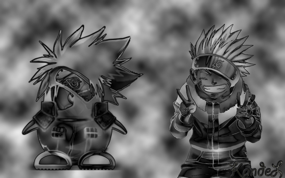 Naruto and kakashi by KandeL15
