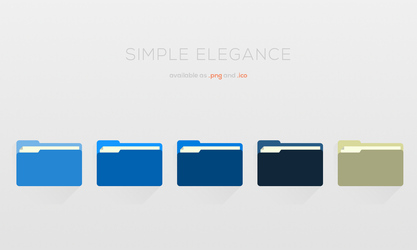 Simple Elegance: Folder Icons [+16x16px Lineart] by Maileanis