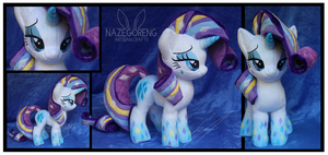 SOLD: Rainbow Power Rarity Plush by Nazegoreng