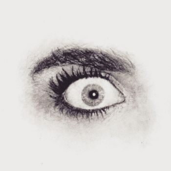 Pencil Draw - Eyes, Cara Delevingne by dhffy