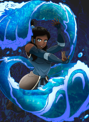 WaterBending Korra by AngelXMikey