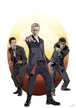 The Last Three Doctors A4 by jlfletch