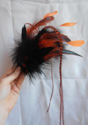 Mad wasp teardrop fascinator by fairyfrog