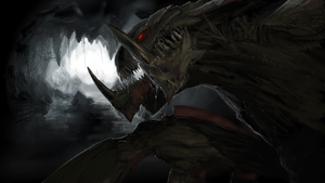 Hydralisk in a cave by KalebLechowski