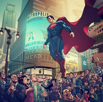Welcome To Metropolis, Man Of Steel, REVISED. by BongzBerry