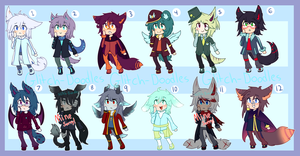 Adoptables Batch 3 (OPEN) by GlitchCanvas