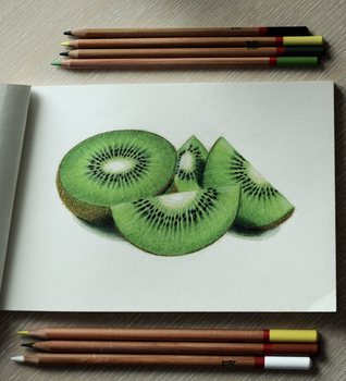 kiwi fruit by MarjoryBurnt
