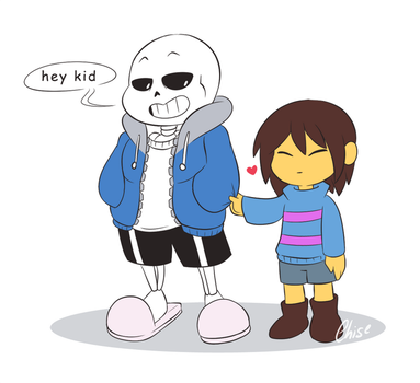 -: Sans and Frisk :- by ReSuKu