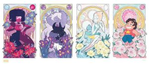 Steven Universe and the Precious Crystal Gems by missypena