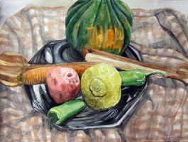 Still Life with Squash by cirruscastle