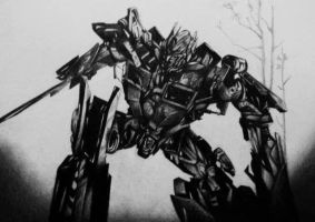 Optimus prime pencil Drawing by MTERM775