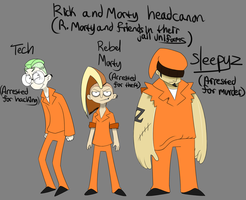 RickandMorty headcanon: Rebel Morty and friends by Glitched-Irken