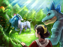 Shiny Feraligatr And Suicune [+VID] by ArtsyShionai