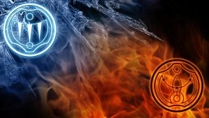 Fire And Ice Wallpaper by Kemipo