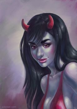 Demon girl by Adorael