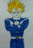 Vegeta The Blue Ranger by JQroxks21