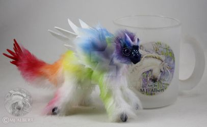 Rainbow Bird Dragon Mini Doll by M-J-Albert