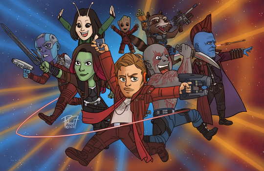 Guardians of the Galaxy Vol 2 by pencilHead7