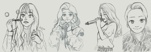 51916 Sketching Sprint - Mamamoo Version by kaichi1342