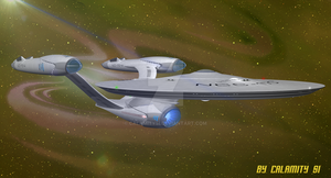 Reimagined USS Enterprise NCC-1701-A : 2 by calamitySi