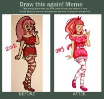 Draw this again! Pin up by freyv