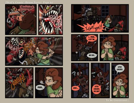 FNAF4 Comic - House Party - Page 24 - 8-26-16 by Mattartist25