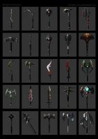 Grammatikus weapons concepts by Cloister