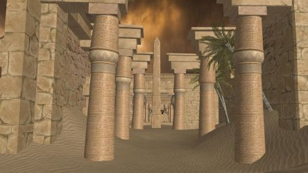 XPS Release! Egyptian Temple Ruins Environment by Fuzzy-Moose