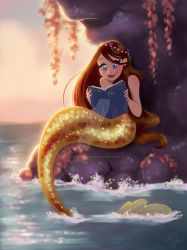 Reading Mermaid by DylanBonner