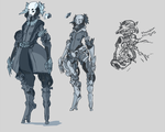 Warframe fan concept (slightly improved version) by boringcabbage