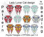Peyote triangles patterns 17PT009 by LadyLunarCat