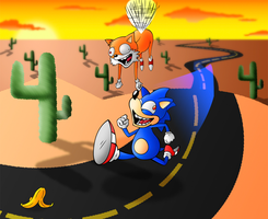 Watch out Sonic The Hedgehog by MisterDavey
