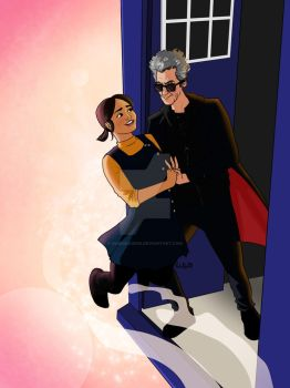 Clara and the Doctor - Tango in the TARDIS by RabidDog008