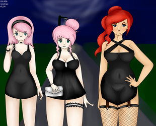 The Little Black Dresses by SILVER-raindrops3