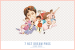 png pack * 1 pt.2 - 7 NCT DREAM PNGS by meowheed