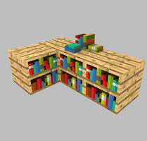 bookcase _test by Elcruellfable
